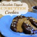 SchneiderPeeps - Chocolate Dipped Sunbutter Cookies