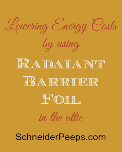 SchneiderPeeps - Lowering Energy Costs with Radiant Barrier