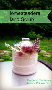 DIY hand scub