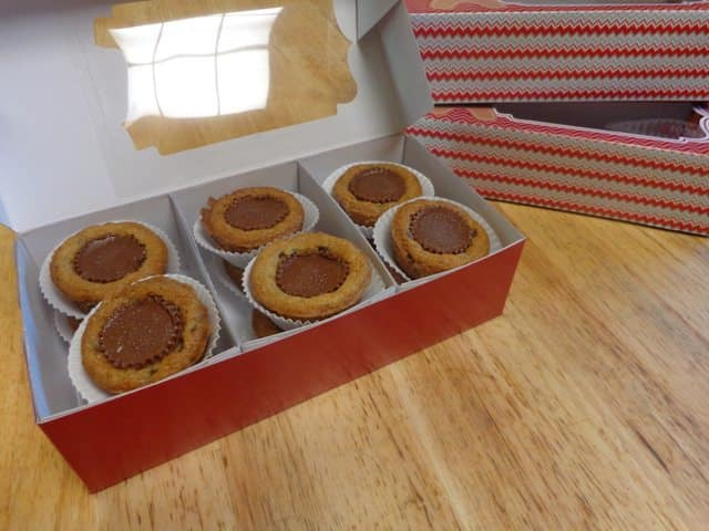 chocolate chip peanut butter cup cookies treat boxes