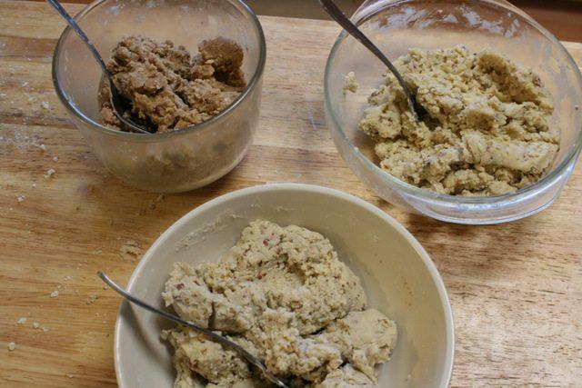 Mexican wedding cookies dough comparison