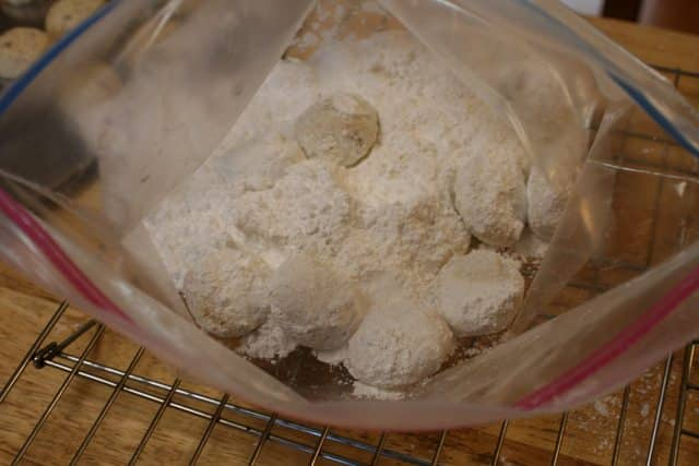 roll in powdered sugar