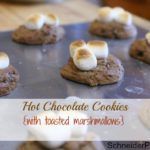SchneiderPeeps - Hot Chocolate Cookies with toasted marshmallows