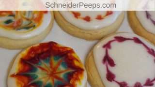 Shortbread Cookies with Icing for Tie Dye Cookies
