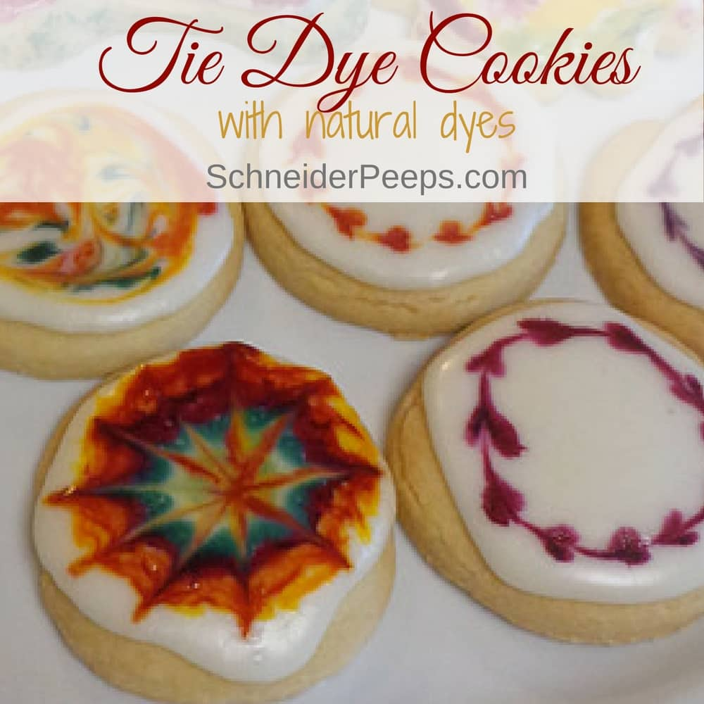 Making tie dye cookies is a great activity to do with children since you can't really mess up tie dye.