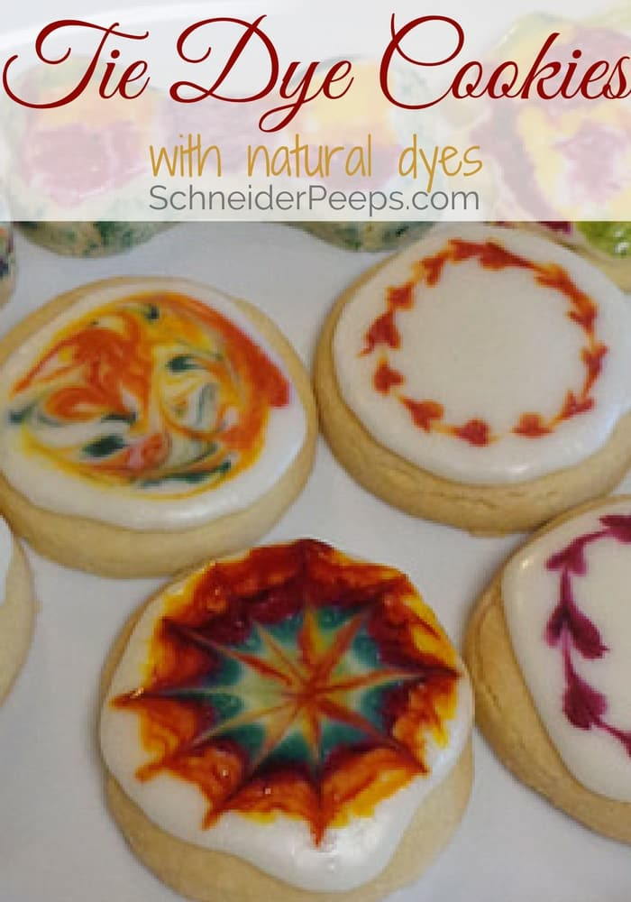 image of shortbread cookies with icing that have been dyed with natural dyes