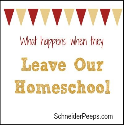 SchneiderPeeps - What happens when they leave our homeschool.  A reader asks how homeschooled students adjust to flying the nest.