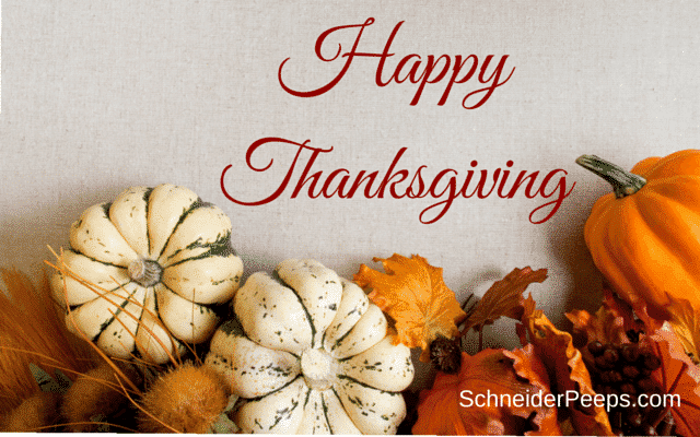 SchneiderPeeps - Happy Thanksgiving
