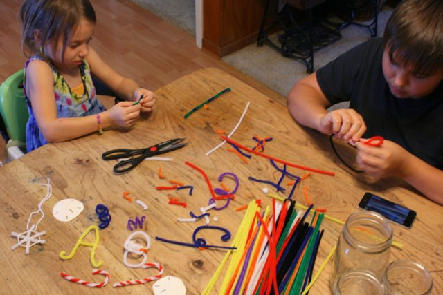 making pipe cleaner borax crystal ornaments