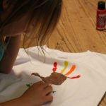 making a turkey handprint t-shirt
