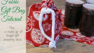 Fabric Gift Bags Tutorial and 10 other fun packaging ideas