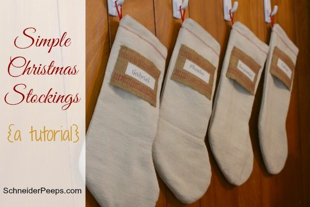 SchneiderPeeps - How To Make Simple Christmas Stockings