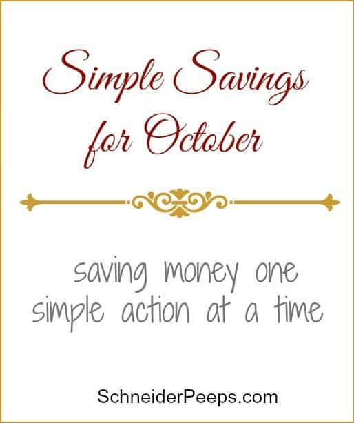 SchneiderPeeps - Simple Savings for October