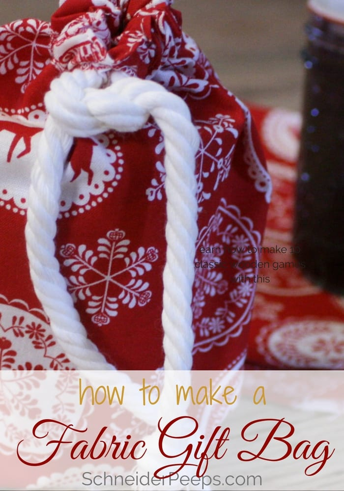 This tutorial will show you how to make amazing fabric gift bags that you can use year after year. They are also a nice way to dress up a simple gift.