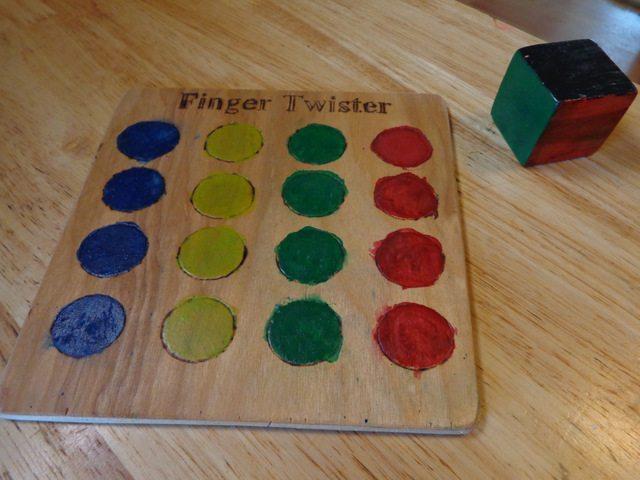 DIY Finger Twister Game