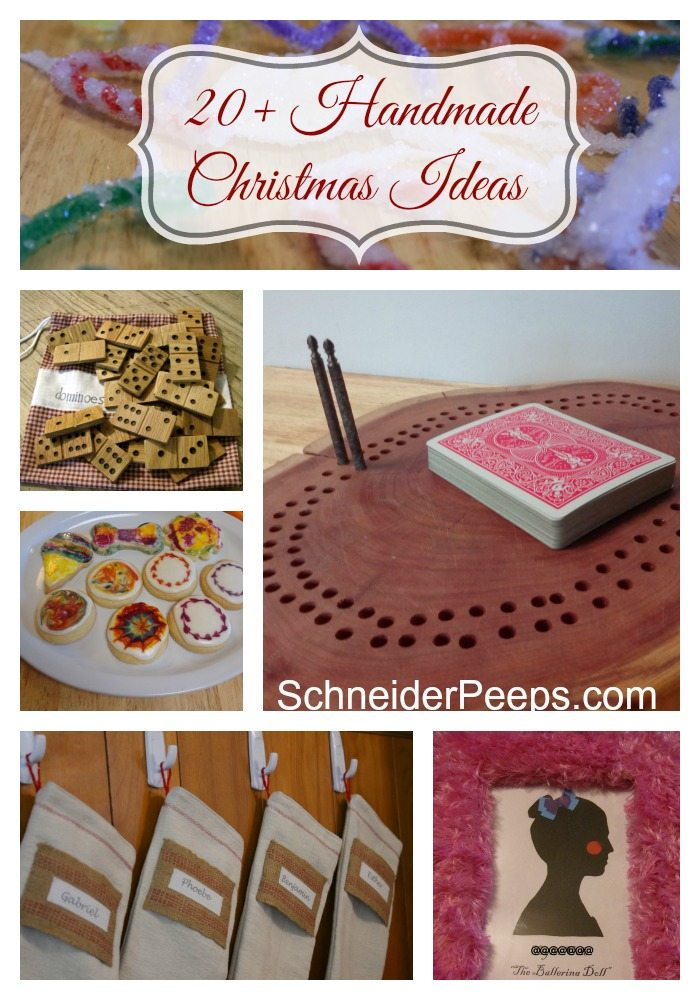 SchneiderPeeps-Handmade Christmas Idea - Over 20 simple ideas and tutorials to help you have a handmade Christmas.