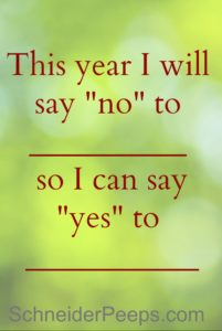 Join me in saying NO in 2015, so you can say YES!