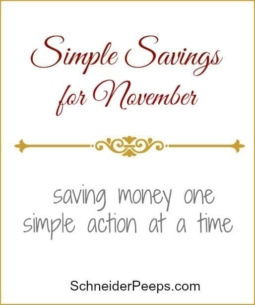It's often the little things that will make or break a budget. Here are some things we did in October to save (or not spend) money.