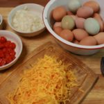 SchneiderPeeps - Omelets make a great breakfast for dinner option - make an omelet bar so everyone can have their favorite add ins.