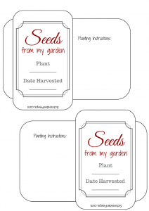 SchneiderPeeps - Free printable seed packets with The Gardening Notebook