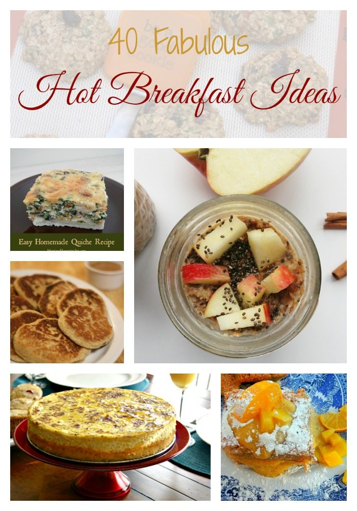 SchneiderPeeps - 40 Hot Breakfast Ideas - Breakfast doesn't have to be cold cereal, even on crazy days. Ten bloggers teamed up to create over 40 hot breakfast recipes; grab and go, leisurely brunch, family favorites and breakfast for dinner recipes.