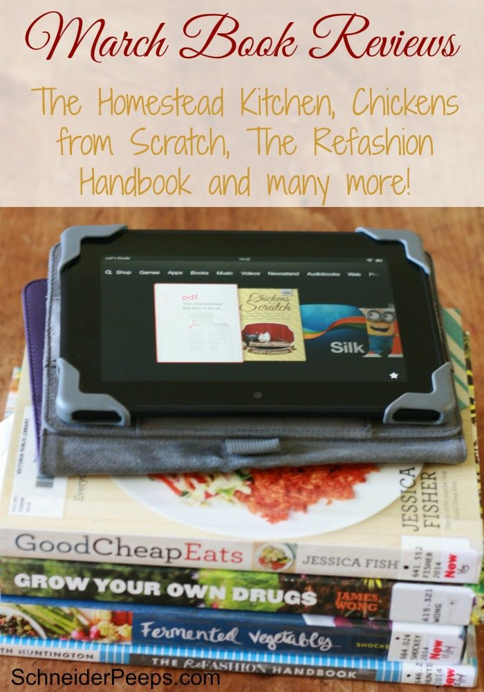 SchneiderPeeps - March Book Reviews