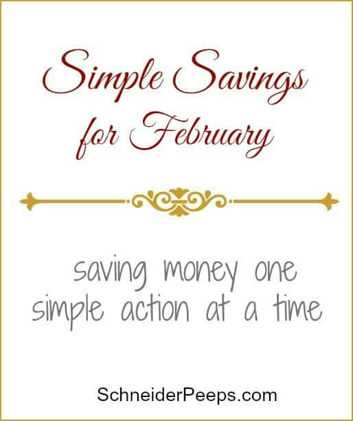 SchneiderPeeps- Simple Savings February