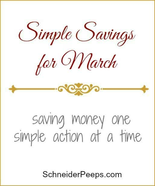 Simple Savings March