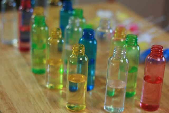 image of colorful small spray bottle for handmade teacher gifts