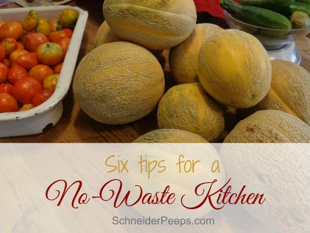 The average person throws away 244 pounds of food a year! Let's be below average! Here are six super easy ways to have a no waste kitchen.