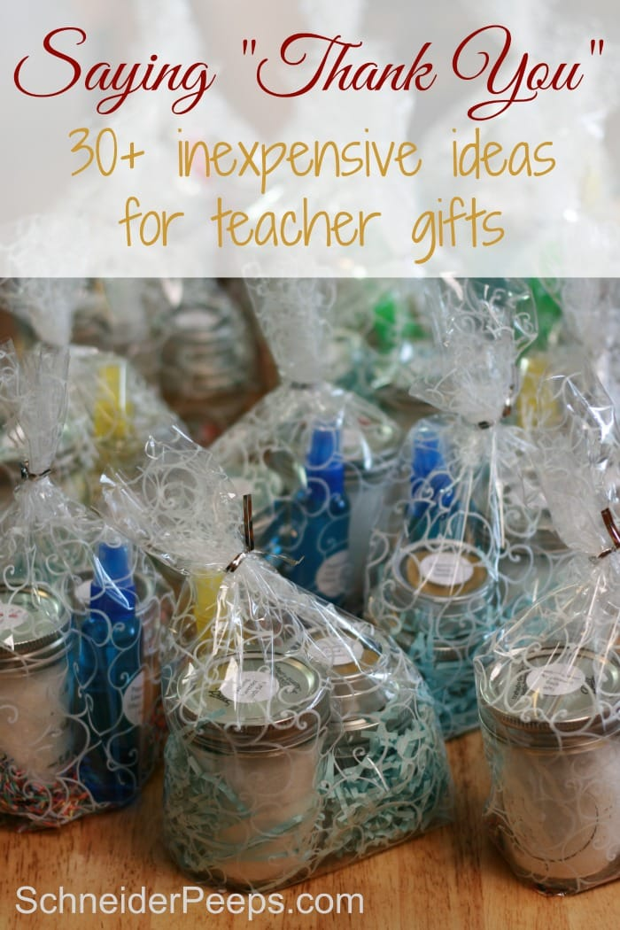 image of handmade teacher gifts in gift bags