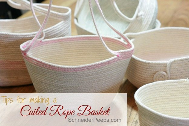 Rope baskets can be a great diy project. Here are a few tips to get you started.