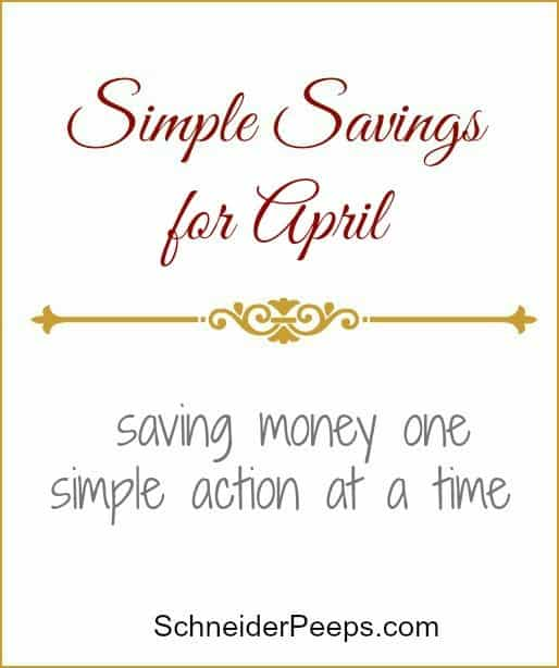 SchneiderPeeps - It's often the little things that will make or break a budget. Here are some things we did in March to save (or not spend) money.
