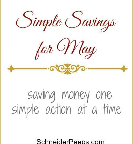 Simple Savings for May