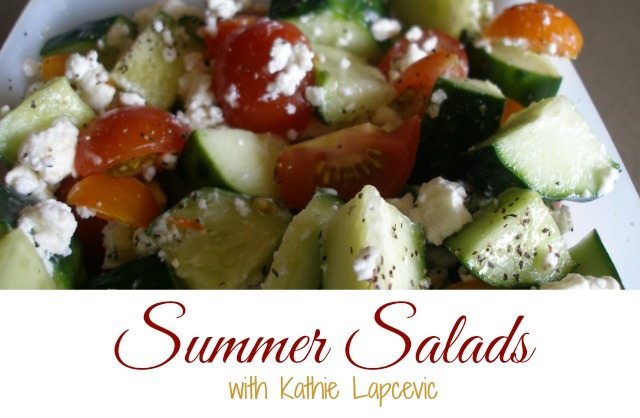 Summer salad don't have to be limited to lettuce. There are things like peanut slaw, pasta salad and tomato and cucumber salads. The possibilities are endless.
