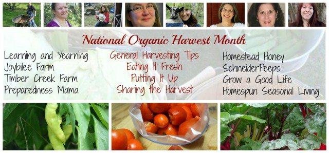 National Organic Harvest Month post