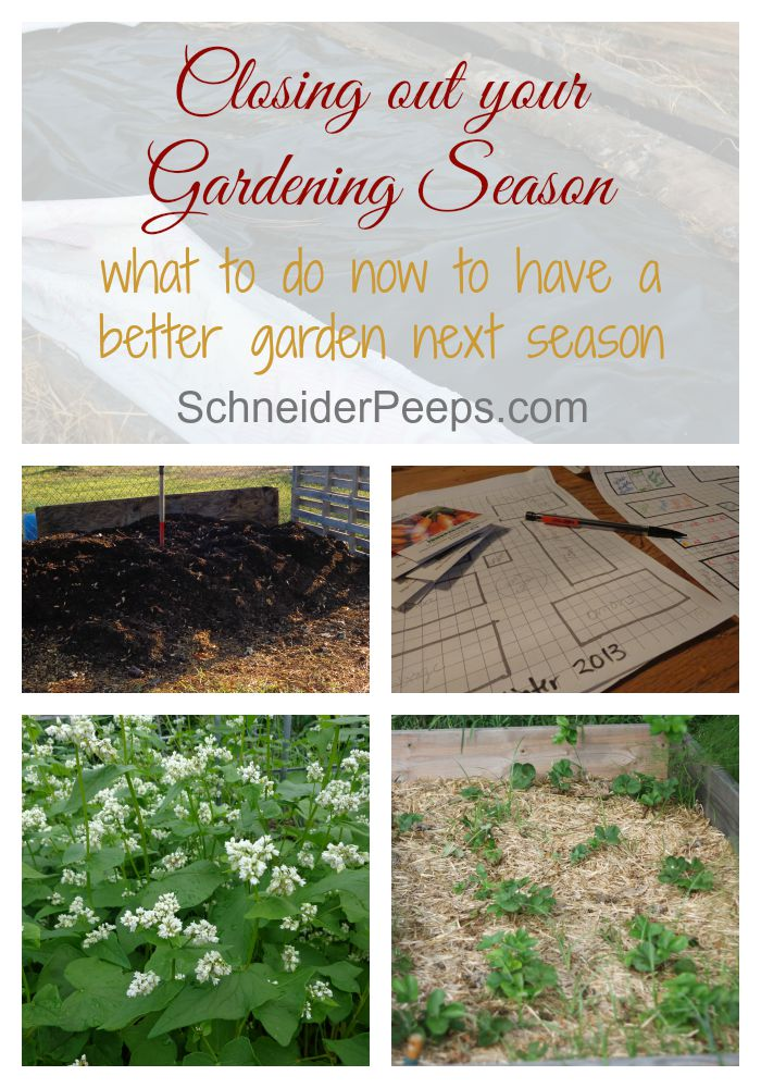 Closing out the gardening season is super important and will help you have a better a better garden next season. Learn how to close out the season here.