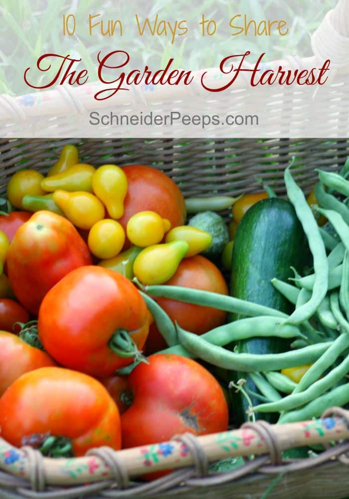 What do you do when you've eaten and preserved all you can and the garden is still producing? How about checking out these fun ideas for sharing the harvest.
