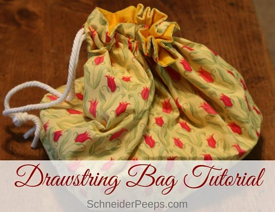 Drawstring bag tutorial