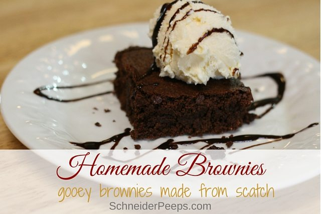 Gooey brownies are the best! They are even better when they are homemade brownies made with quality ingredients. Learn the trick to getting gooey and not cakey brownies from scratch.