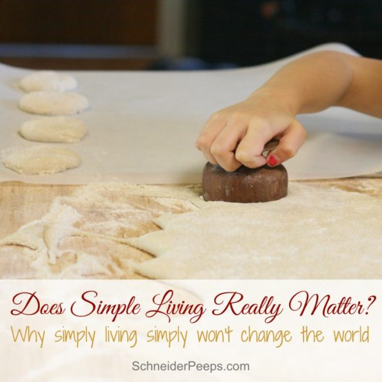 Does simple living really matter?