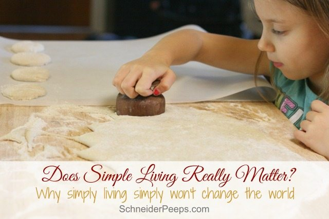 "Ever wonder if simple living really makes a difference? It's not enough to just live simply, we have to actively use the ""extra"" to make a difference in other's lives."