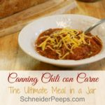Canning Chili con Carne {ultimate meal in a jar}