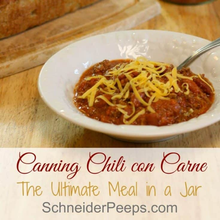 Canning Chili con Carne