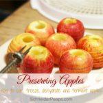 Preserving the Harvest….Apples