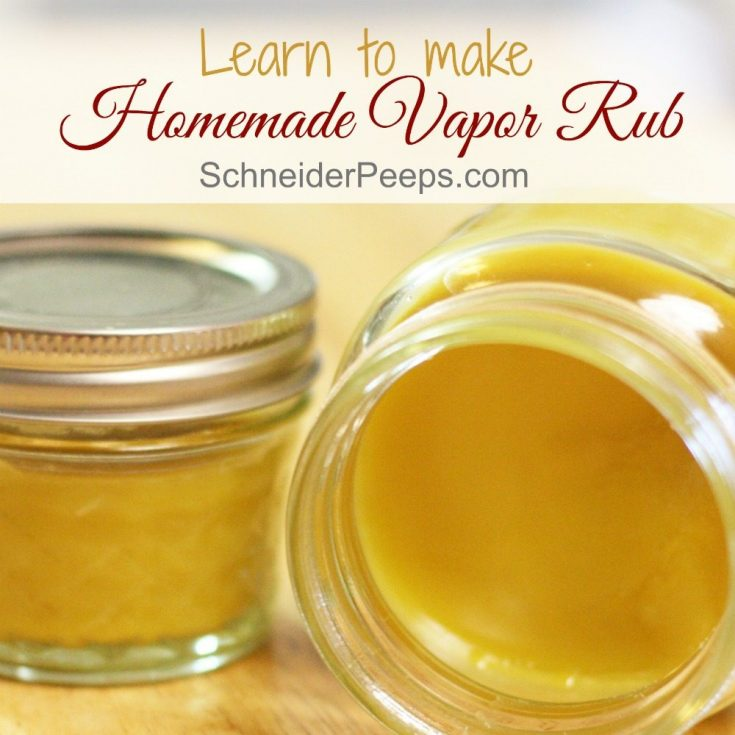 Homemade Vapor Rub for the Cold and Flu Season