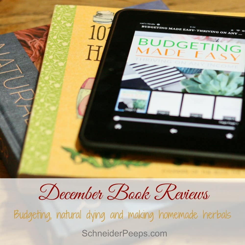 Book reviews of Budgeting Made Easy, Natural Color and 101 Easy Homemade Products for your Skin, Heath & Home.