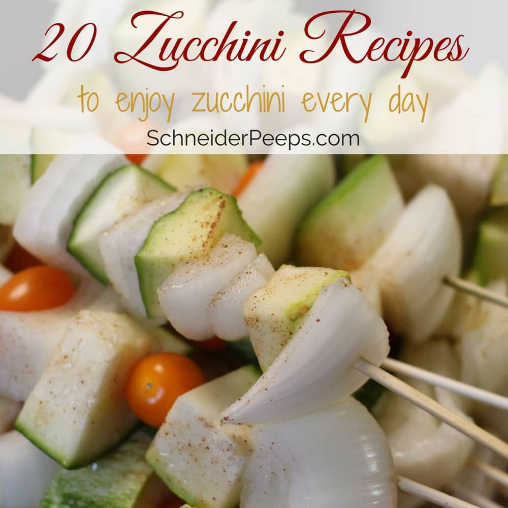 Whose says zucchini has to be boring? Here's 20 zucchini recipes for lunch, dinner, desserts, and snacks that will have your family asking for more.