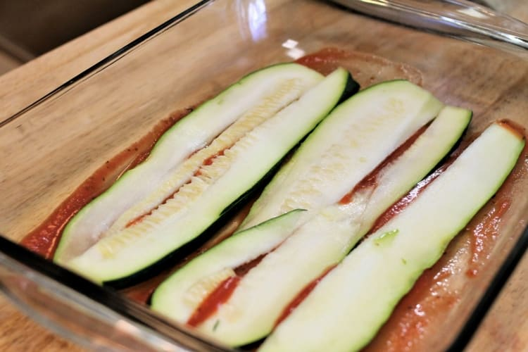 Zucchini lasagna is a great way to use up extra zucchini.