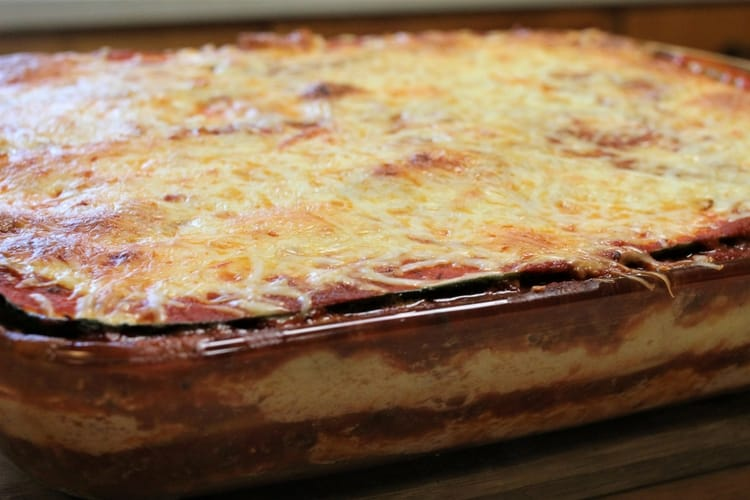 Make zucchini lasagna to use overgrown zucchini
